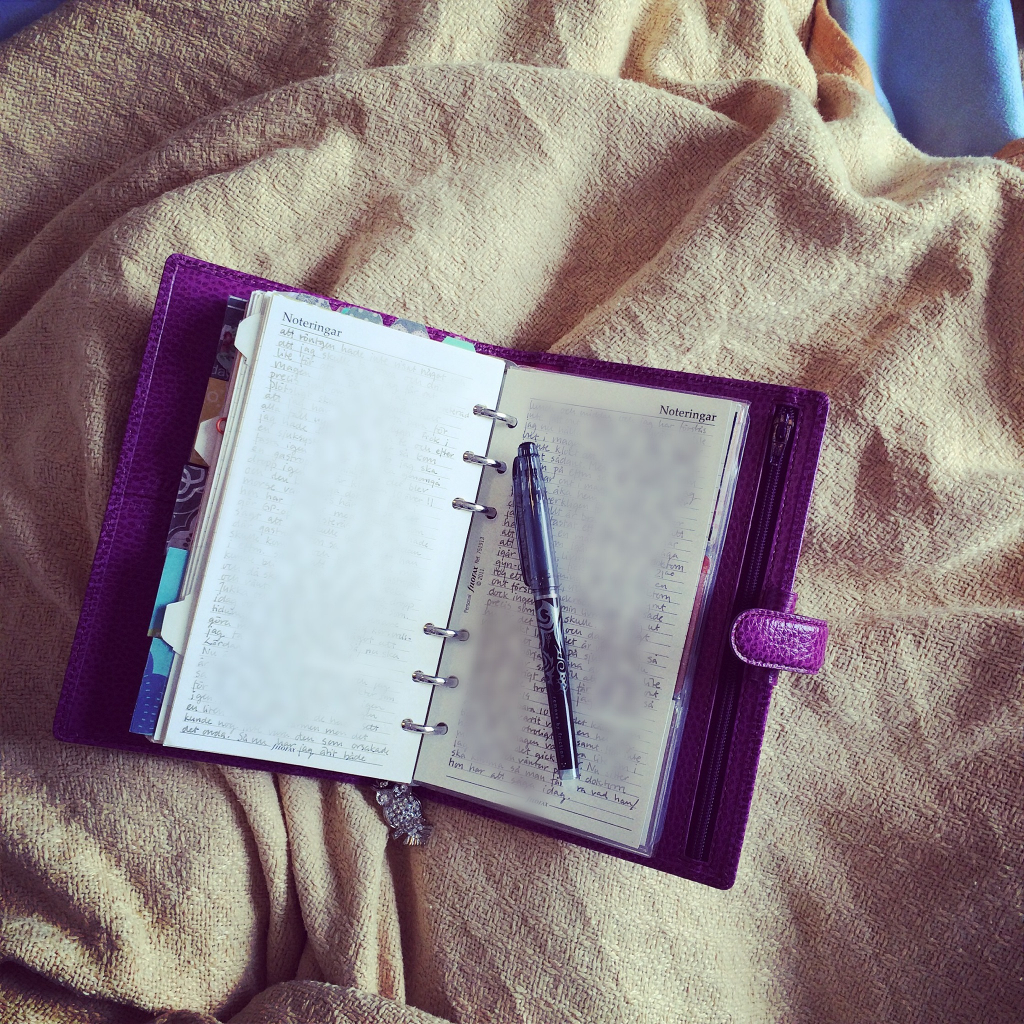 Writing in my journal this totally boring Sunday